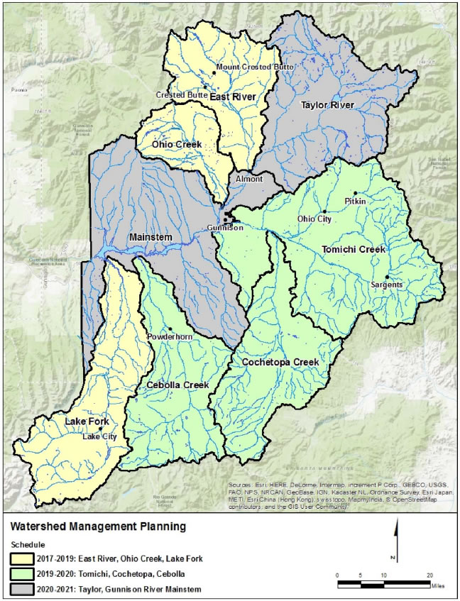 Watershed management planning map